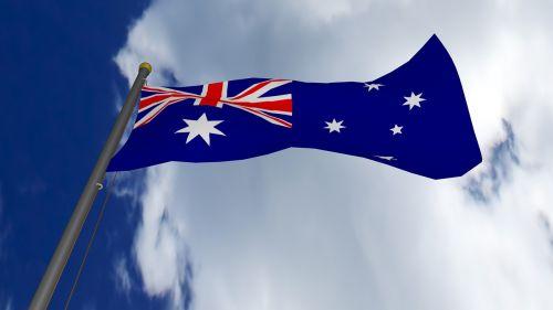 australia,Australijos vėliava,dangus,vėliava,simbolis,mėlynas,nacionalinis,tauta,raudona,balta,žvaigždės,patriotinis,united,diena,3d,debesys