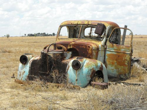 australia old utility old car