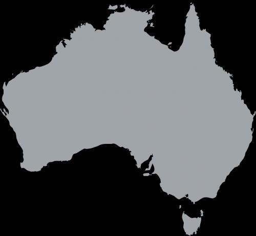 australia continent gray