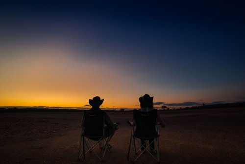 australia  outback  sunset