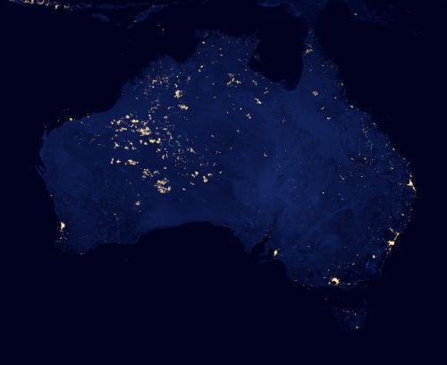 australia cities lights
