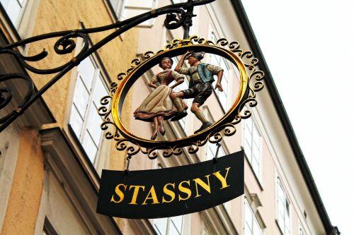 austria,salzburg,Europa,kelionė,Senamiestis,Senamiestis,laikyti,parduotuvė,barokas