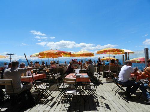 austria restaurant umbrellas