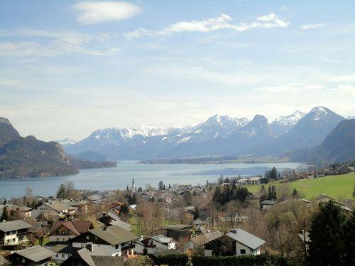 austria lake wolfgang mountains