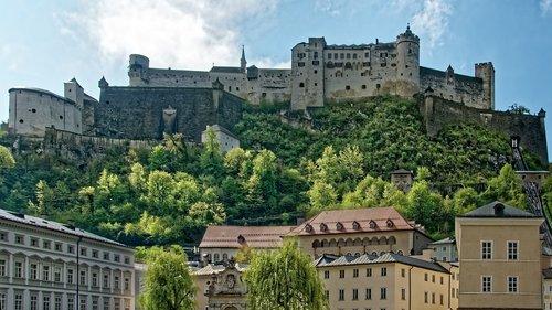 austria  salzburg  town castle