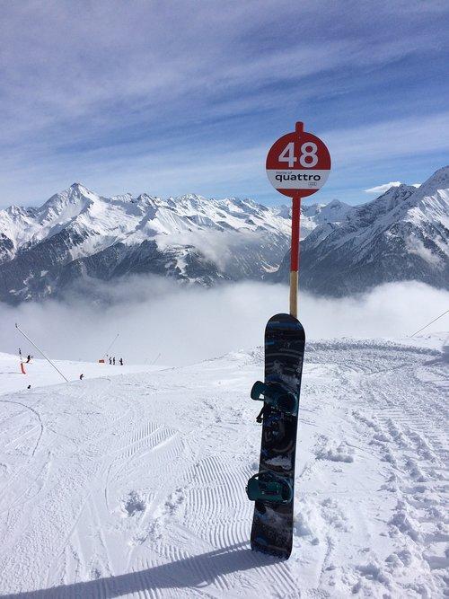 austria  mountains  snowboard