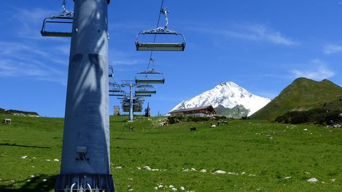 austria  mountains  chairlift