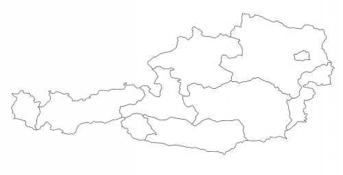austria map regions land borders