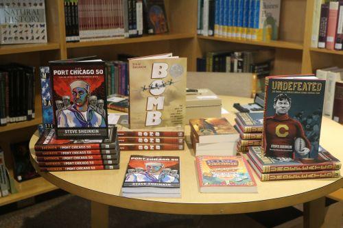 author visit books book display