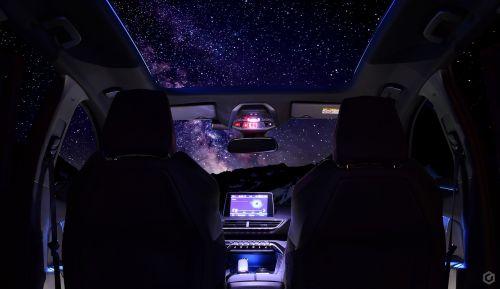 auto stars sky
