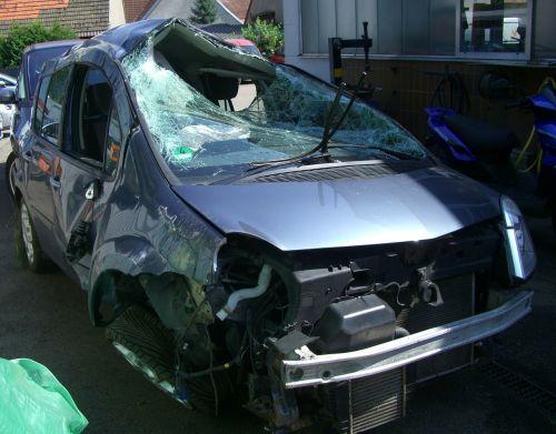 auto accident total damage