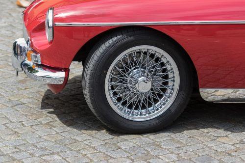 auto mg spoke wheels