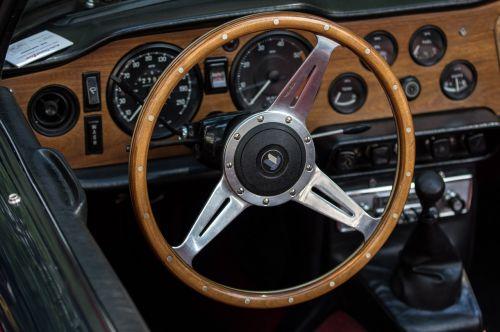 auto triumph wood steering wheel