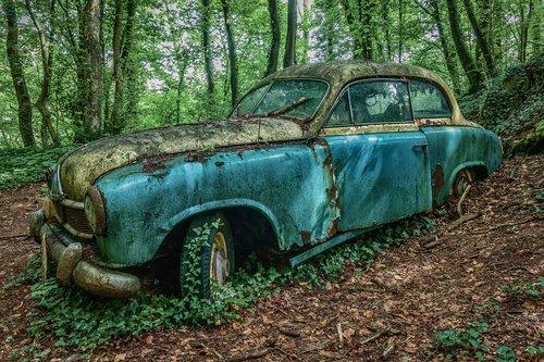 auto  oldtimer  car wreck