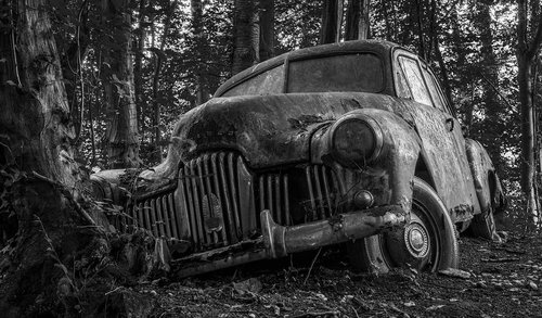 auto  car cemetery  lost places
