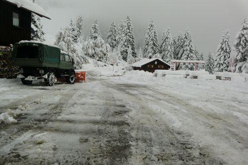 snow plough winter room service winter service