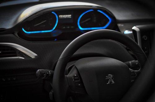 auto  the interior of the  automobile
