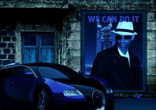 auto poster movie scene