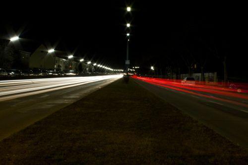 auto road long exposure