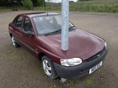 auto lamp post strange