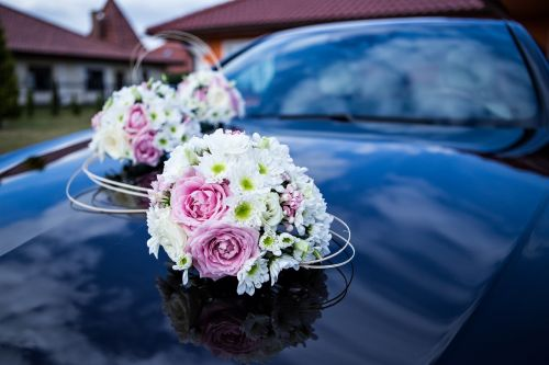 auto for wedding wedding flowers