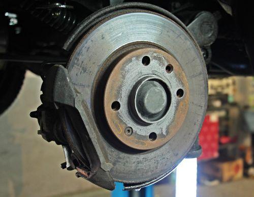 auto repair workshop brake disc