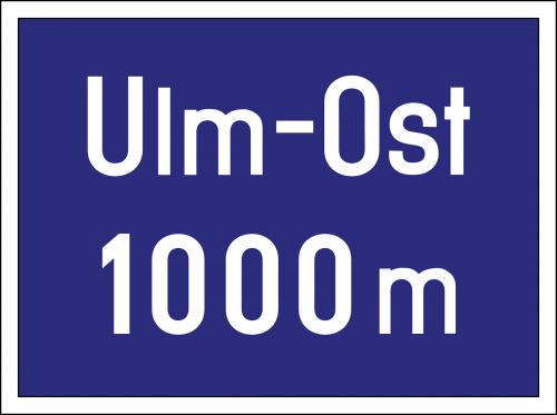 autobahn road sign exit