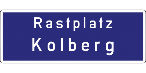 autobahn kolberg road sign
