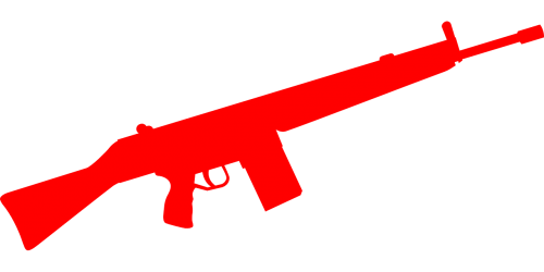 automatic weapon rifle red