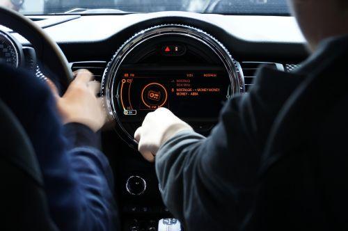 automobile dashboard interface