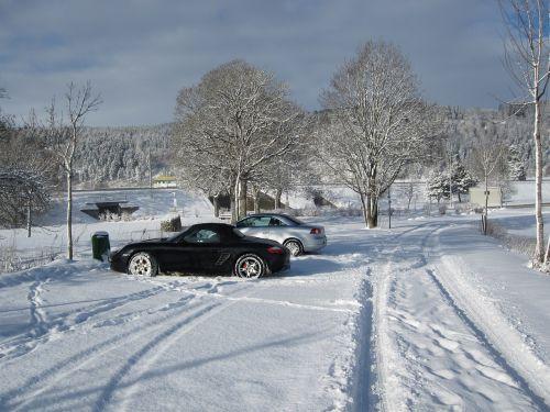 autos winter snow