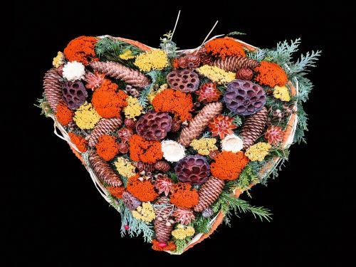 autumn heart arrangement