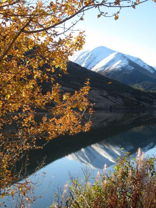 autumn alaska reflection