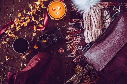 autumn flat lay blogger