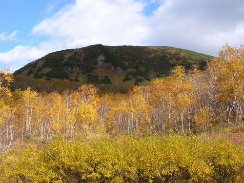 autumn mountains an ancient volcano
