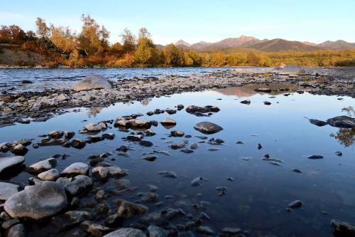 autumn river mountains