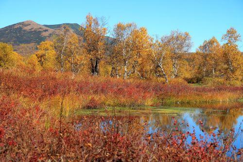 autumn lake mountains