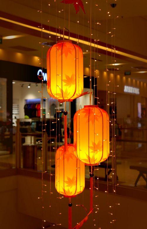autumn the lantern decorate