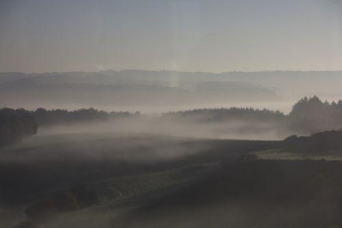 autumn fog ground fog