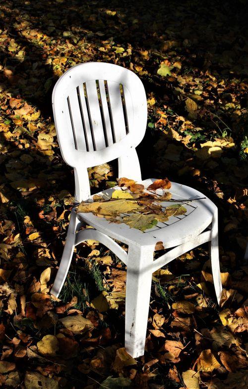 autumn garden chair