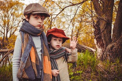 autumn  kids  brothers