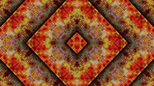 autumn  kaleidoscope art  pattern
