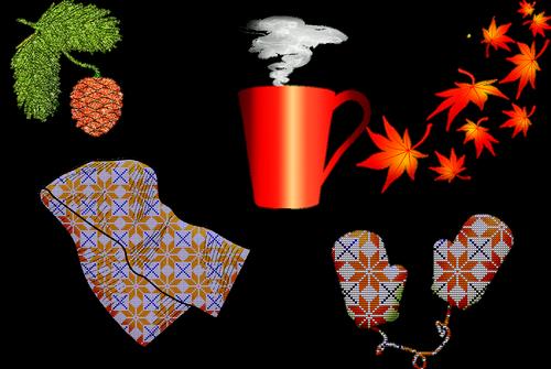 autumn  scarf  mittens