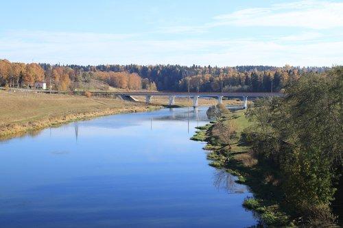 autumn  river  forest