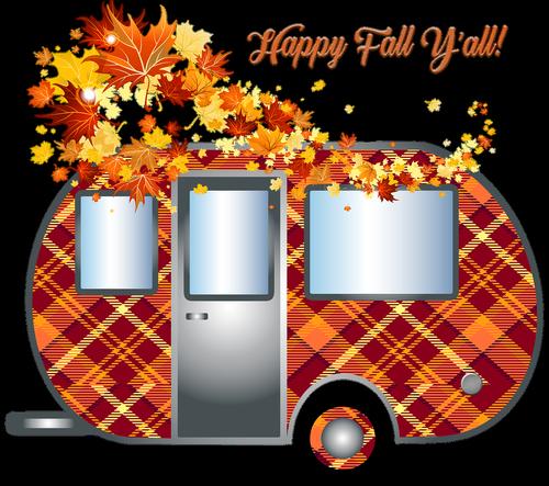 autumn camper  trailer  travel