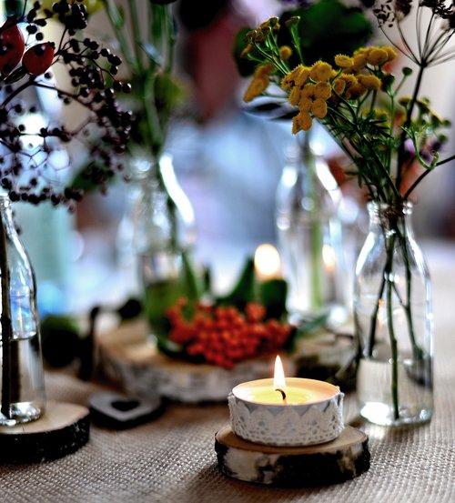 autumn decoration  autumn  table decoration
