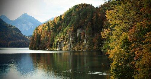 autumn landscape  lake  landscape