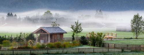 autumn mood landscape fog