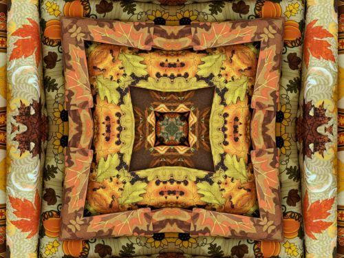 Autumn Quilt Background