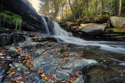 gamta, kraštovaizdis, krioklys, ruduo, kritimas, rudens krioklys